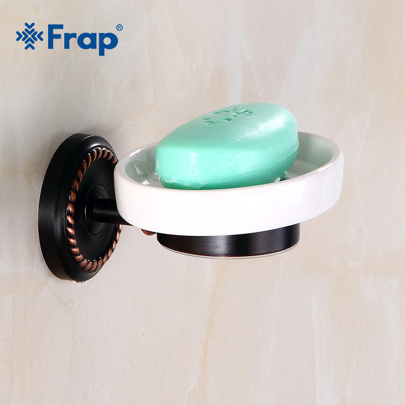 Frap Soap Dishes Brass Soap Holder Wall Mount Art Carving Luxury Bathroom Accessories Metal Soap Box Black Soap Basket Y18017 original xiaomi mi4c patchwall tv box 1gb 8gb amlogic s905l 2 4g wi fi bluetooth set top box supports 4k hd smart media player