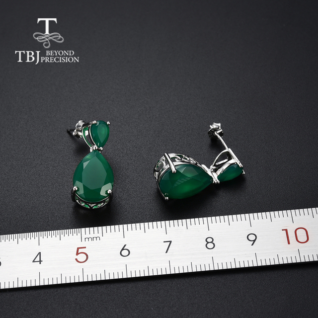 TBJ,natural green agate gemstone Dangle Earrings in 925 Sterling Silver Fashion Beautiful Jewelry Gift For Women wife daily wear-in Earrings from Jewelry & Accessories on Aliexpress.com | Alibaba Group