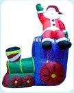 Счастливый Надувной Санта-Клаус надувные декорации, веселые украшения