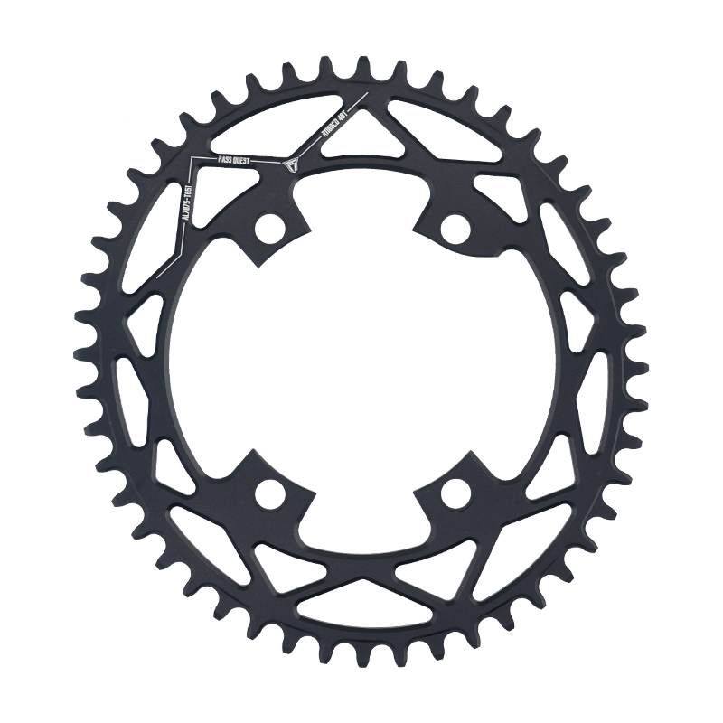 PASS QUEST Bike Chain wheel 110BCD <font><b>Oval</b></font> Road Bike Chain ring 42T-52T Narrow Wide <font><b>Chainring</b></font> For R7000 R8000 DA9100 image