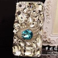 Luxus diamant bling für samsung galaxy s6 S6edge S5 s3 s4 note2 anmerkung3 hinweis4 N9000 G9200 3D strass kristall telefon abdeckungs-fälle