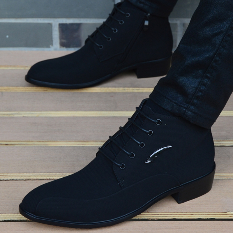 Casual High Top Ankle Boots Formal Men Shoes Flats Fashion Work Dress Business Party Wedding Shoes