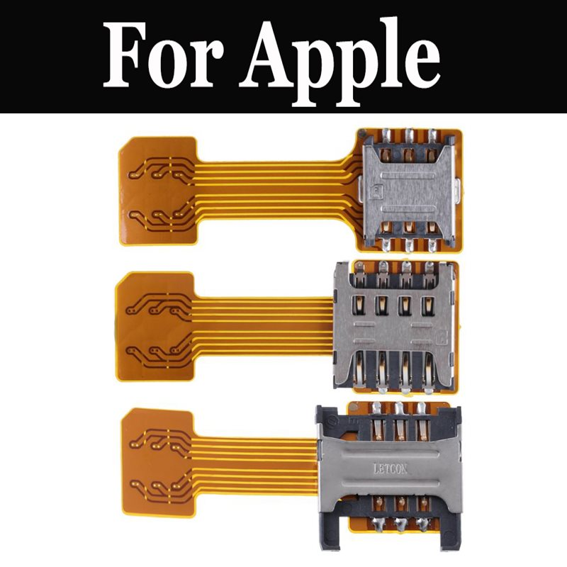 <font><b>Dual</b></font> Micro SD <font><b>Adapter</b></font> Micro <font><b>SIM</b></font> Card Hybrid Double Micro Extension For Apple <font><b>iPhone</b></font> <font><b>7</b></font> <font><b>7</b></font> Plus SE 8 8 Plus X Xs Xs Max XR image