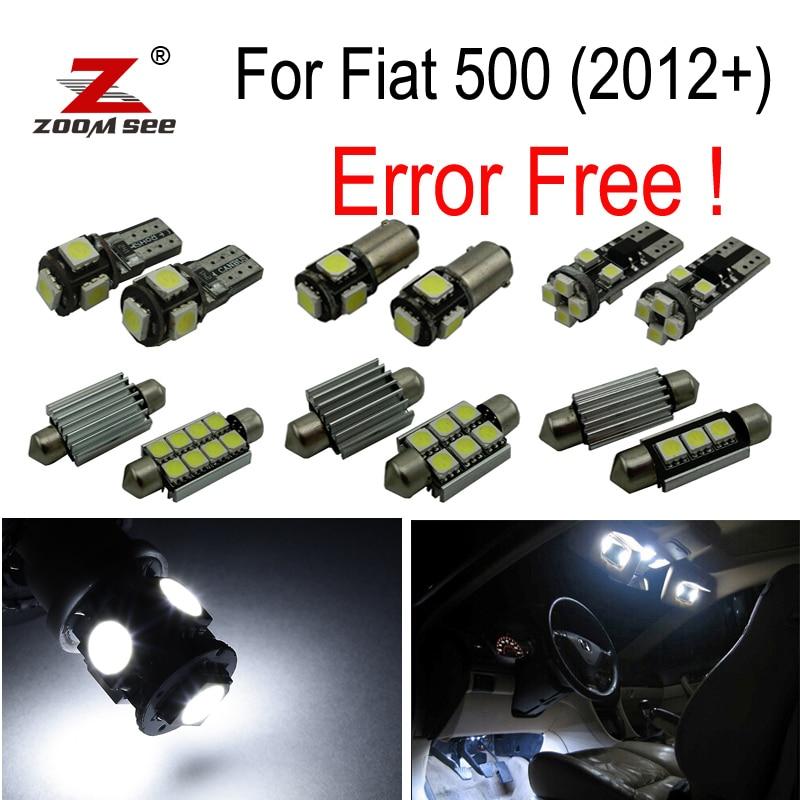 ᗚ6 unids matrícula del LED Bombilla interior Kit de luz para Fiat ...