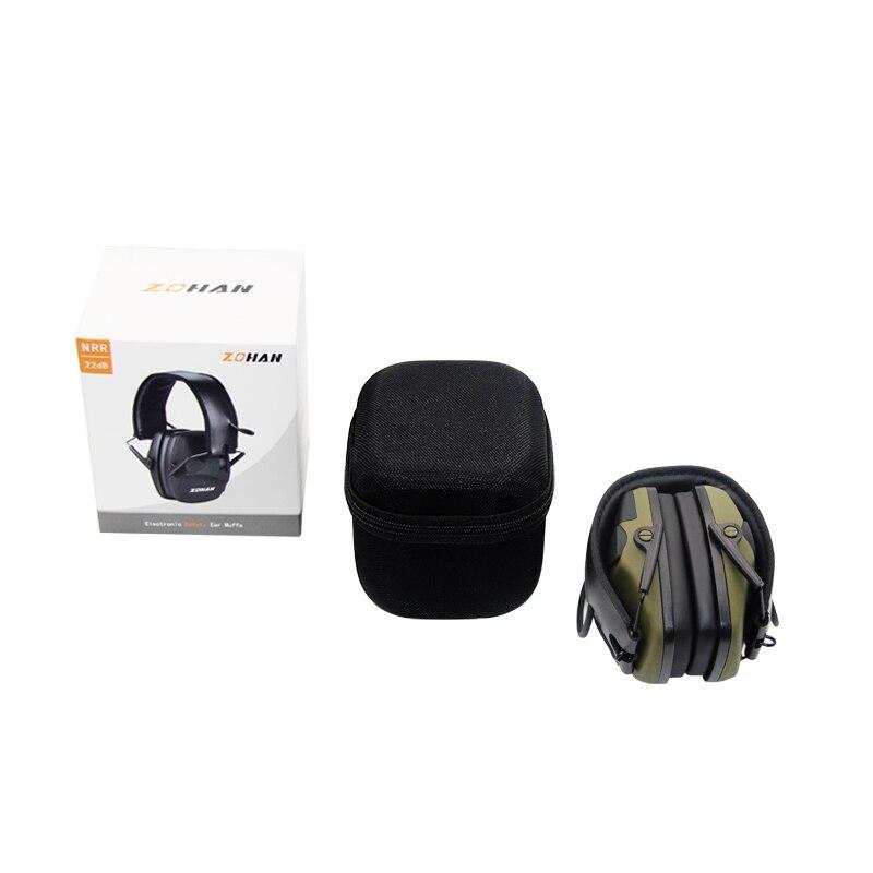 ZOHAN electrónicos tiro oído protección NRR22dB sonido amplificación de reducción de ruido de orejeras profesional caza oído defensor - 5