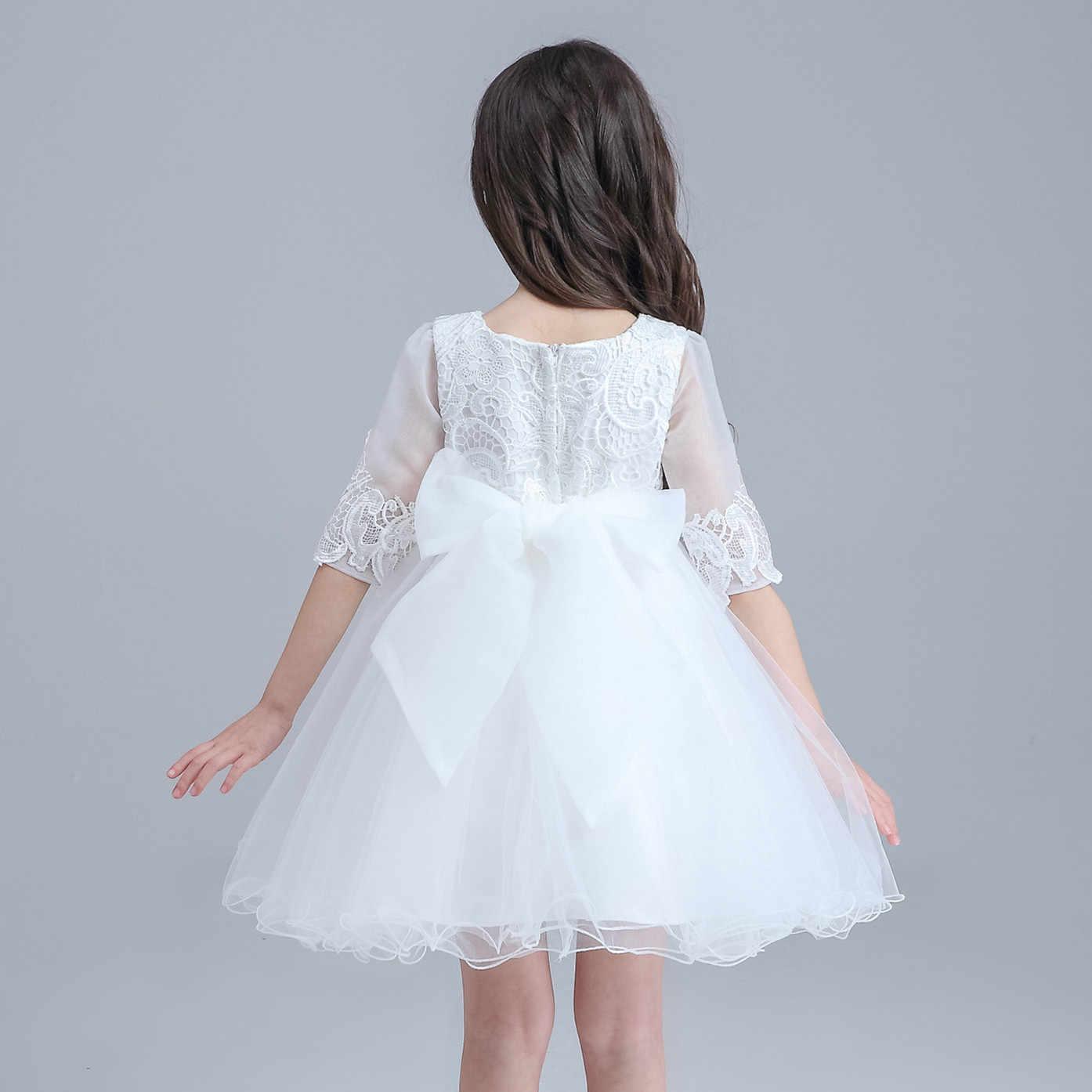 16b6b9ed7 Detail Feedback Questions about White Mini Formal Girl Dress Half ...