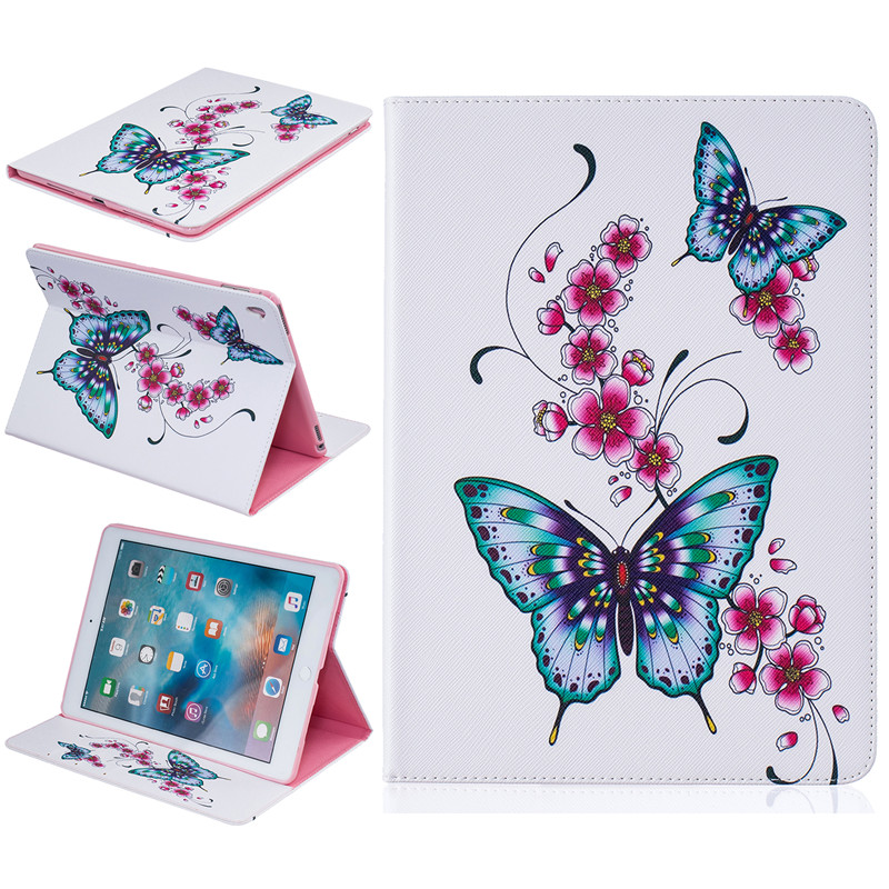 Cover For Apple iPad Pro 9.7 inch Case Fashion Butterfly Pattern PU Leather Flip