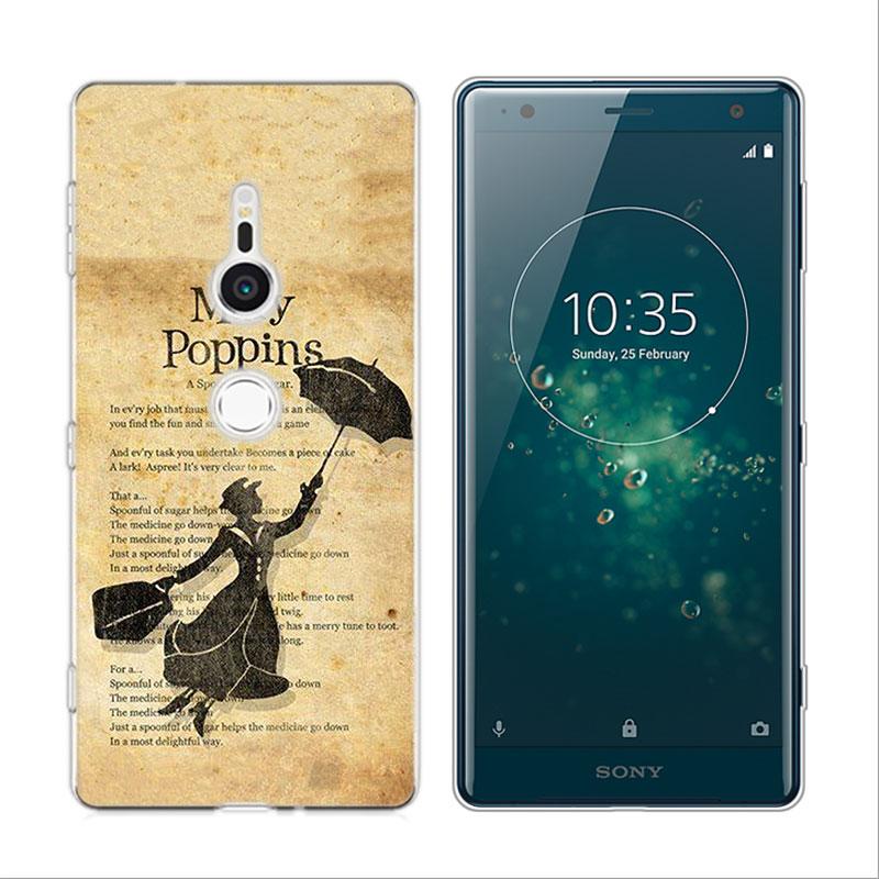 Transparent Soft Silicone Phone Case Mary Poppins for Sony Xperia M5 E5 Z5  XA1 XA2 XZ1 XZ2 Compact