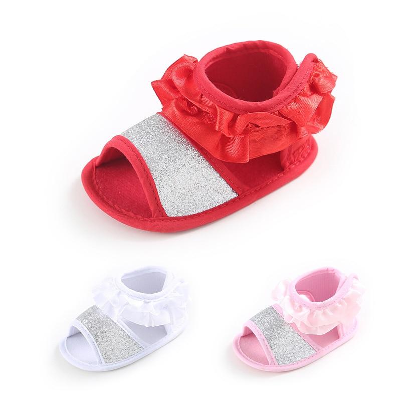 77cd9820f الصيف 3 ألوان طفل الفتيات الصيف أحذية لينة شبشب منزل الطفل الأميرة أحذية بيع