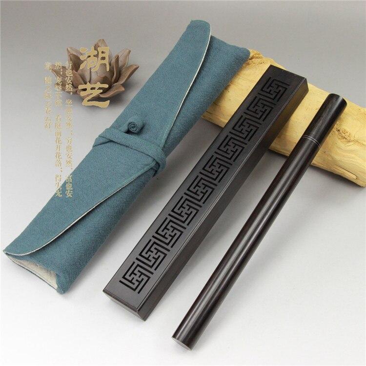 Yi Tan wood violet Lake monolith hollow cotton bags long set incense tube Travel Set