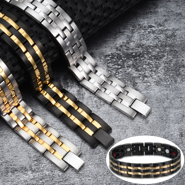 Wrist Band Magnetic Bracelet for Men