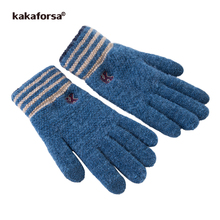 Kakaforsa New Men Knitted Gloves Touch Screen High Quality Male Thicken Warm Nylon Running Gloves Men Sport Mitten