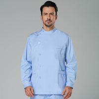 new men hospital medical scrub clothes set fashionable design slim fit dental scrubs beauty salon men Doctor uniform