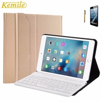 Kemile Removable Wireless Aluminum Alloy Bluetooth Keyboard Ultra Slim Magnetic Case Cover With Stand For IPad