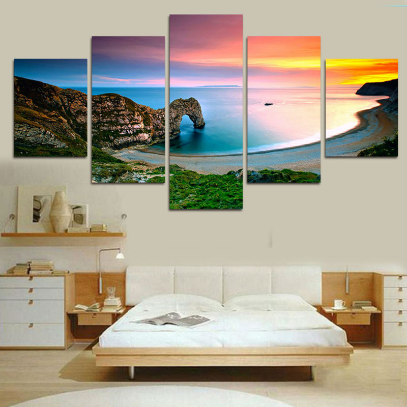 Frame Art Pictures Painting Oil Painting On Canvas Famous Landscape Mediterranean Sea Modern HD Picture For Living Room