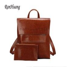 Ranhuang Фирменная Новинка 2017 высокое качество женские натуральная кожа рюкзак женские роскошные рюкзак модные сумки для девочек-подростков A871