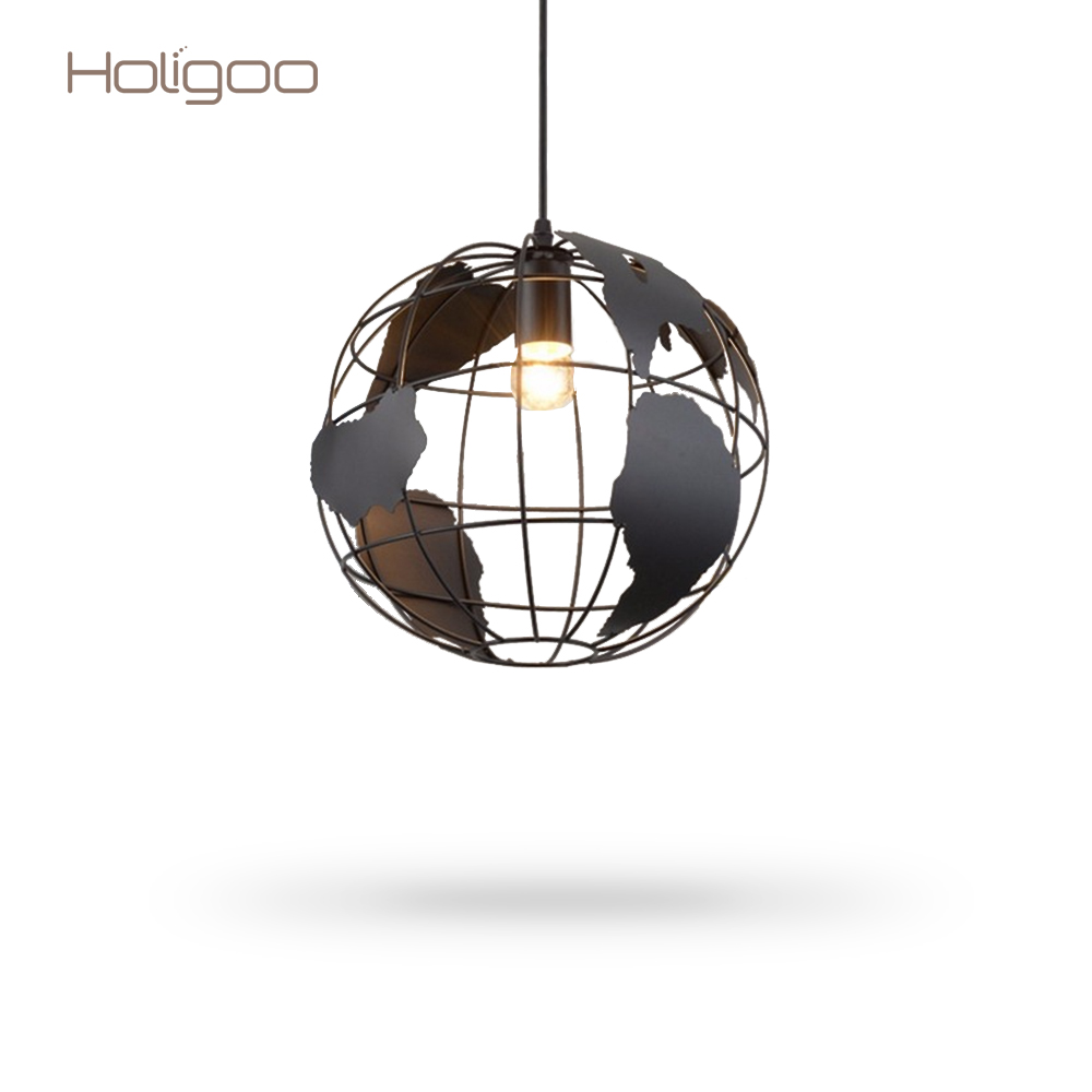 Holigoo pendant light with earth creative art cafe bar restaurant holigoo pendant light with earth creative art cafe bar restaurant bedroom hallway lamp scandinavian modern minimalist map lamp in pendant lights from lights arubaitofo Image collections