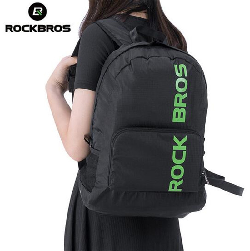 ROCKBROS Waterproof Foldable Backpack Hiking Camping Cycling Bicycle Bike Bags Men Women Outdoor Sport Bag