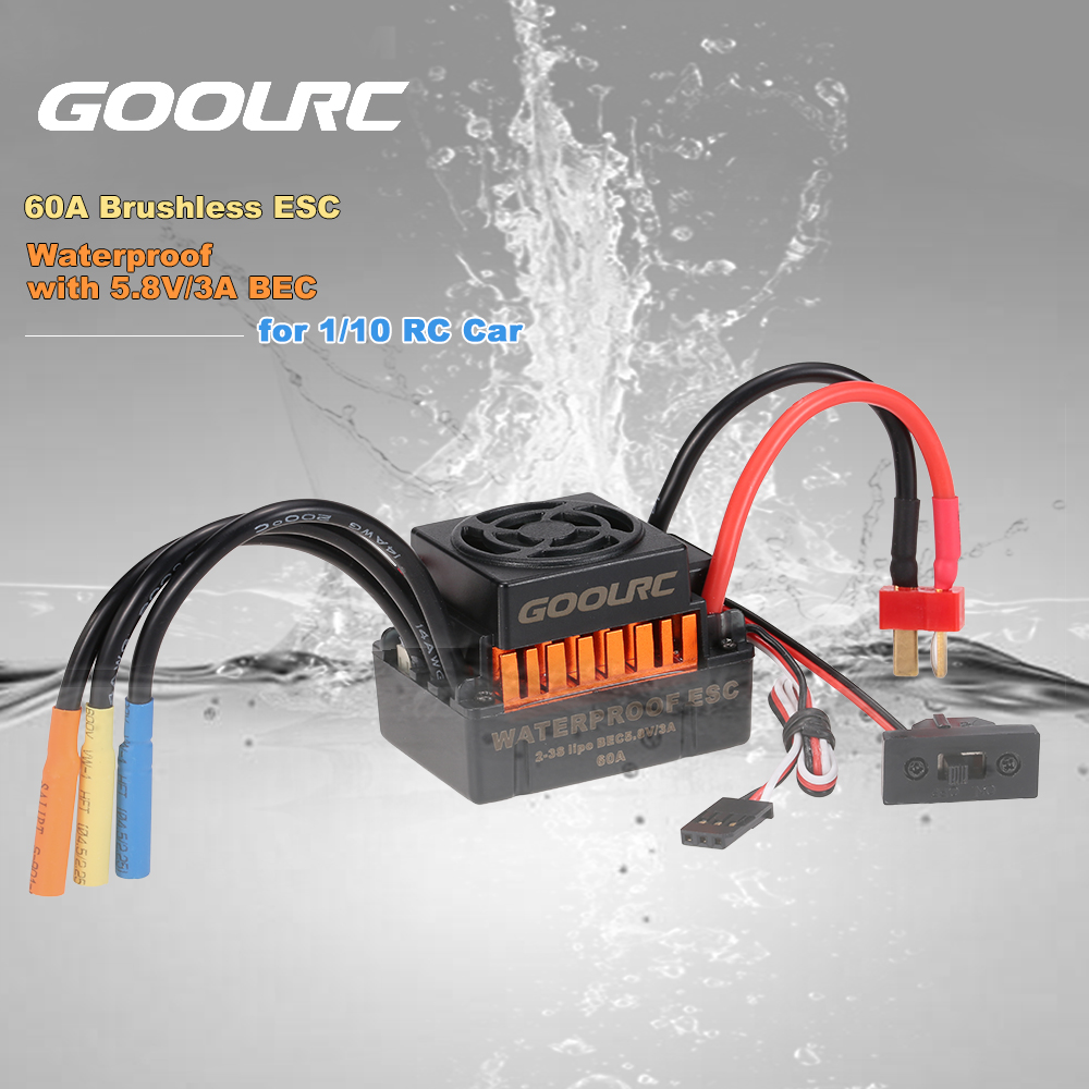 GoolRC Upgrade Waterproof 3650 3900KV Brushless Motor ESC 60A Combo Set for 1:10 Climber RC Car Truck Electronic Speed Vehicle surpass hobby upgrade waterproof 3650 3900kv rc brushless motor with 60a esc combo set for 1 10 rc car truck motor kit