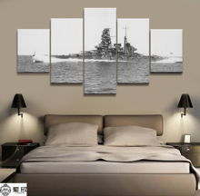 5 Panel Japanese Battleship Haruna War Weapon Poster Printed Painting For Living Room Wall Art Decor  Picture Artworks Poster 4 panel military uss missouri navy war weapon poster printed painting for living room wall art decor picture artworks poster