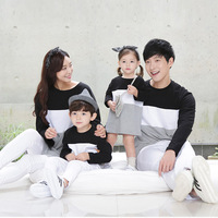Family Matching Clothes for Father Mother Daughter Son Autumn and Winter Cotton Hoodie Family Look Cotton Hoodies Outfits