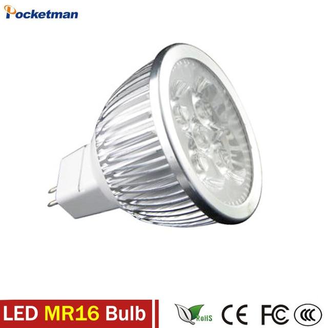 Super Bright MR16 LED Spotlight 3W 4W 5W 12V Led Lamp No Flicker ...