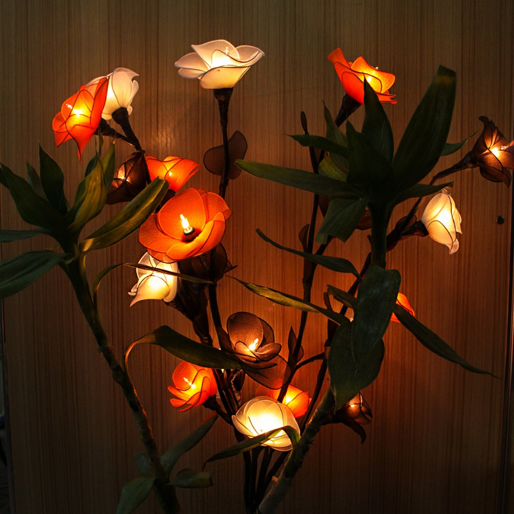 new led art lamp flower light modern home classical decoration