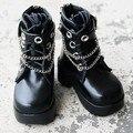 [Wamami] 46 #1/4 Черный BJD MSD AOD DOD Кукла Dollfie Синтетической Кожи, Обувь