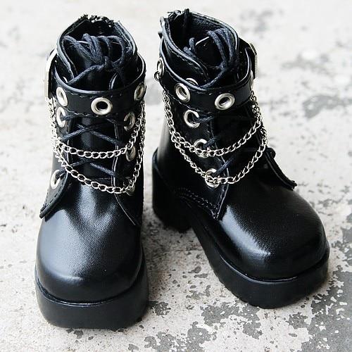 wamami 46 1 4 Black BJD AOD DOD MSD Doll Dollfie Synthetic Leather Shoes