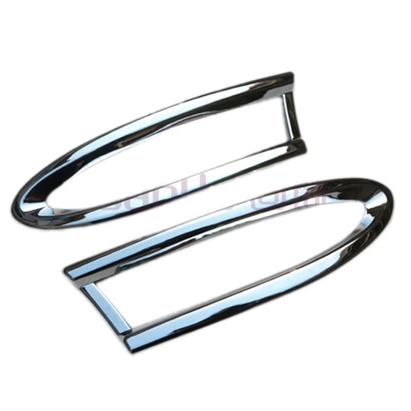автомобильные аксессуары задний противотуманный крышка лампы хвост противотуманные фары крышка накладка для BMW х3 f25 привод датчика 2011 автомобилей укладка ABS хром 2 шт. за комплект