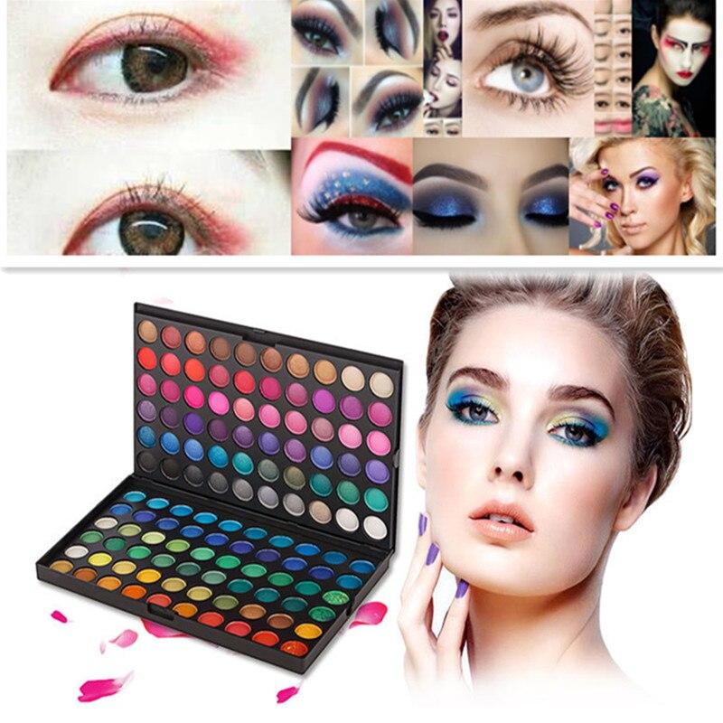 120 Color Eyeshadow Palette Silky Powder Professional Make us