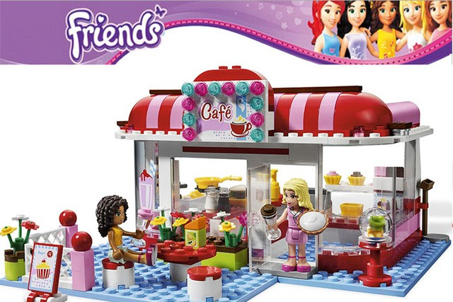 Hot Sale Bela 10162 Girls Friends Andrea/Marie's Cafe Building Block Sets ABS Figures Assemble Bricks Compatible with Lego toys