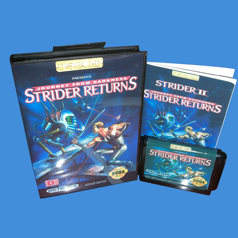 Strider II - Strider Returns With Box And Manual 16bit MD Game Card For Sega Mega Drive For Genesis image