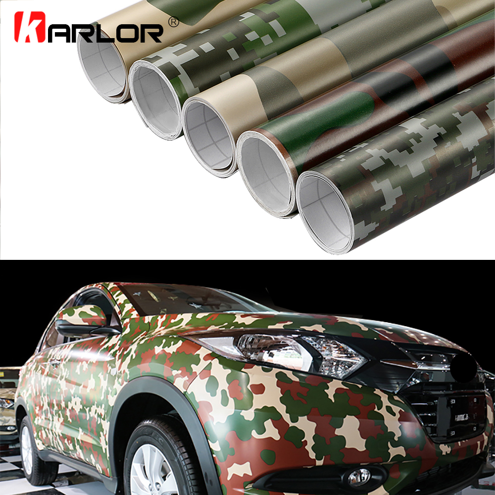 Car-Styling 50x200cm Camouflage Adhesive PVC Vinyl Film Car Wrap Army Military Camo Woodland Digital Sticker Vehicle DIY Decal цена
