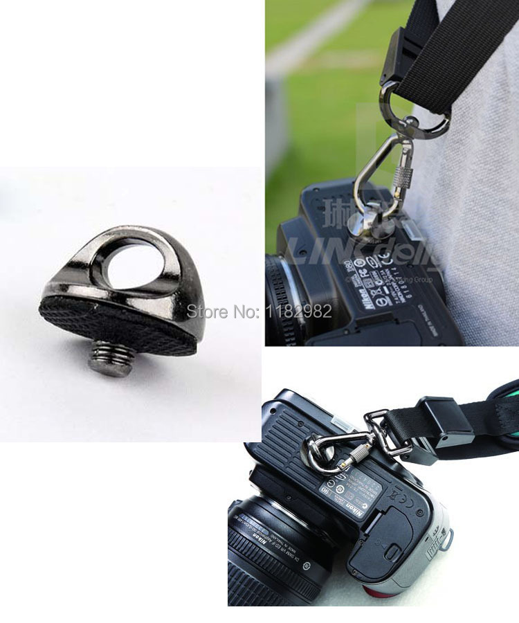 100% New 1/4 Screw Connecting Adapter neck strap Screw FOR Camera/Camcorder shoulder Quick sling strap Free Shipping