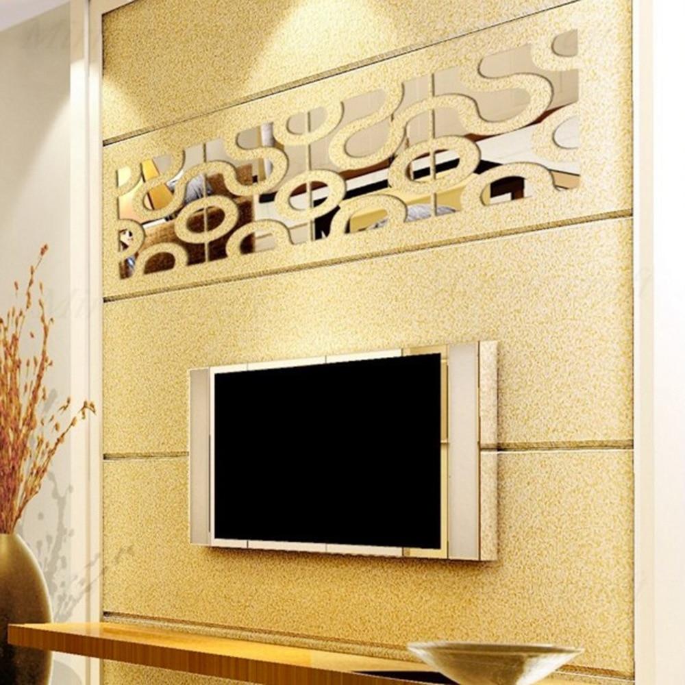 modern pattern home decor diy 3d mirror wall sticker acrylic ...