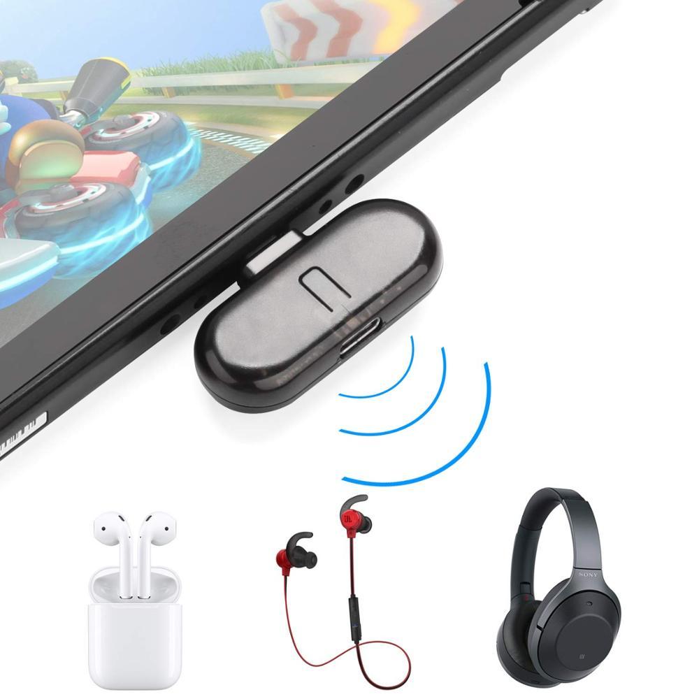 Interruptor do Bluetooth Transmissor de Áudio para Nintendo Usb-tipo c
