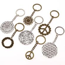 Hot Sale Key Chain Ring Hollow Flower Car Keychain For Metal Pendant Bag Charm Keyring Handmade Gift Women
