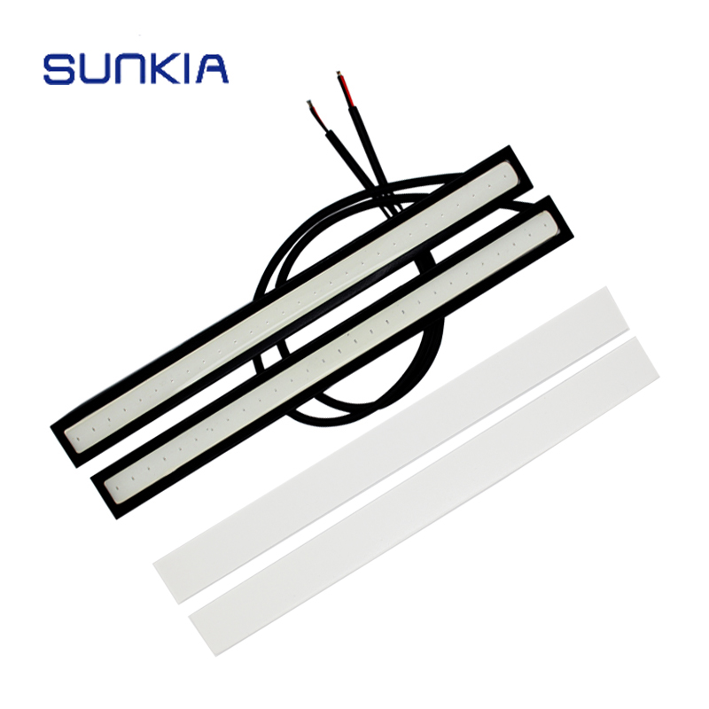 SUNKIA 170MM Car LED DRL External Light 12V DC Waterproof Daytime Running Light Car Styling Fog Lamp For LADA VW Toyota