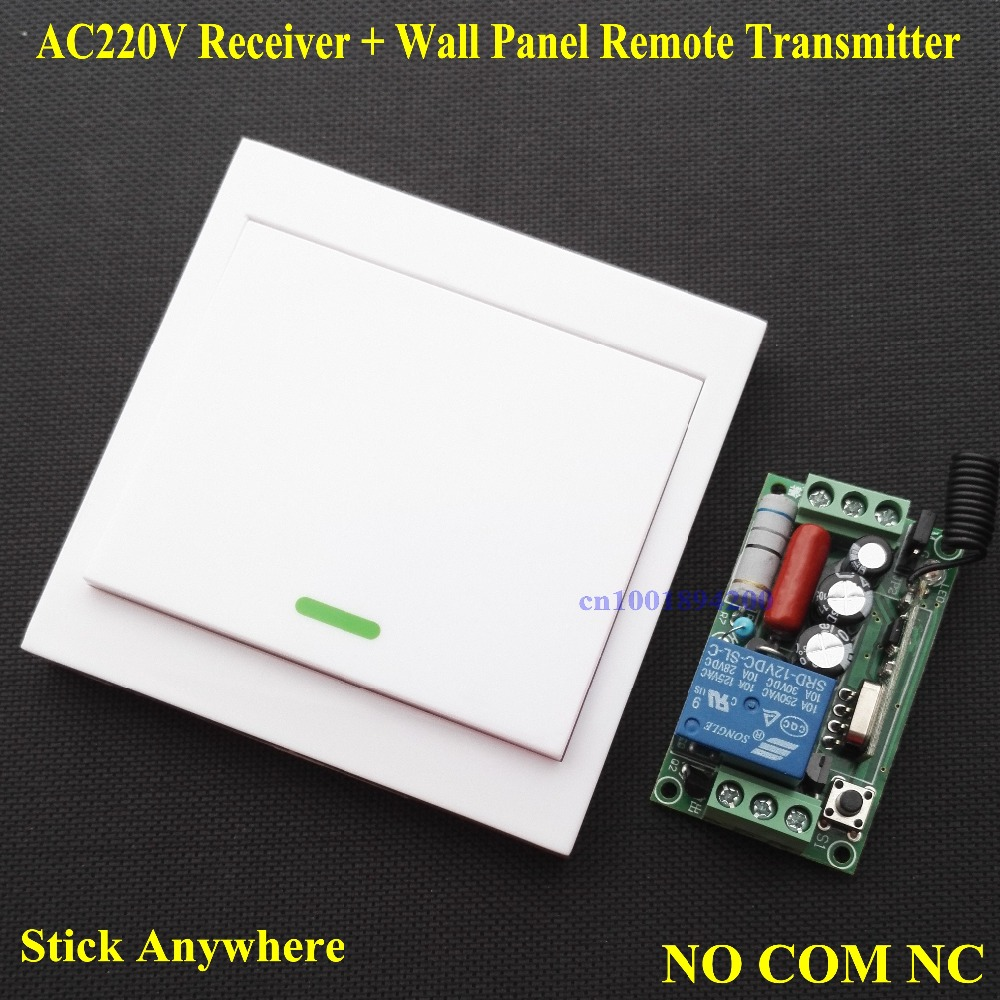 Smart Home Light Lamp LED Strips Wireless Relay Remote Switch + Wall Panel Remote Transmitter Sticky Remote TX NO COM NC RX