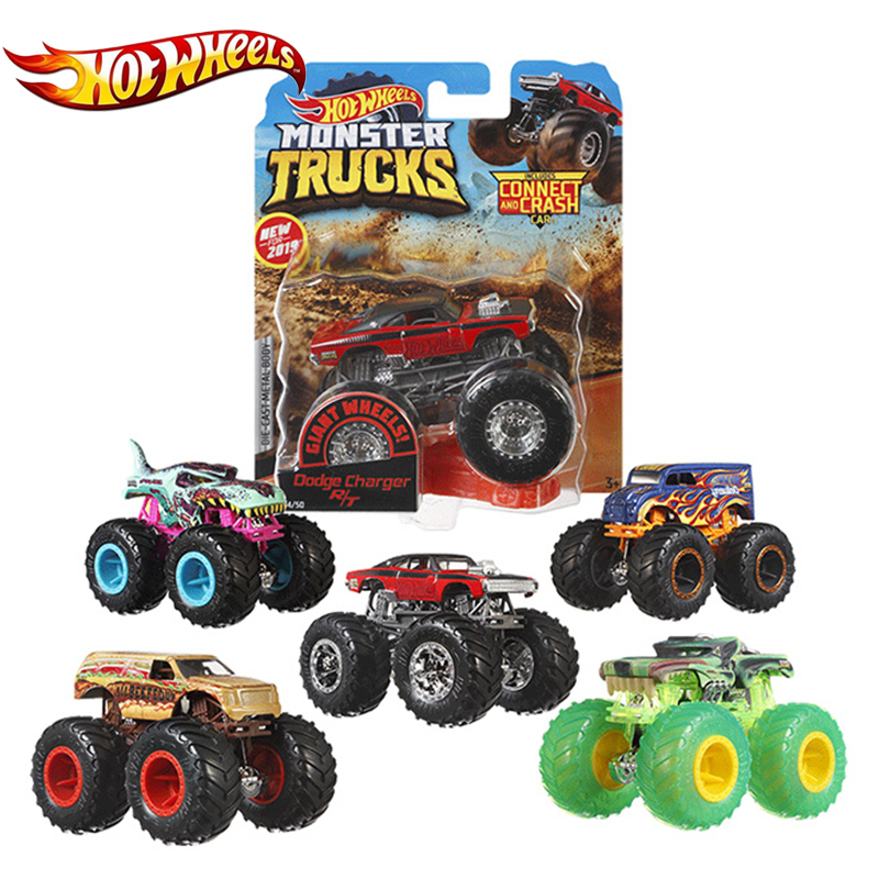 Hotwheels 1:64 Car Toy Monster Trucks Assortment Metal Cars Toy Lover Collection FYJ44 Singel Package Big Tyre Hot Wheels Gift(China)