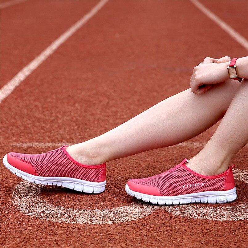 2018 Neue Ankunft Casual Schuhe Frauen Licht Turnschuhe Atmungsaktivem Mesh Casual Schuhe Walking Mesh Schuhe Sapato Feminino Zapatos S # QualitäT Und QuantitäT Gesichert Frauen Schuhe
