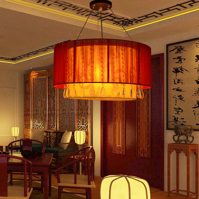 Modern Chinese Brushed Suede Living Room Chandelier Lighting Fixtures Hotel Restaurant Dining Light Box Lights
