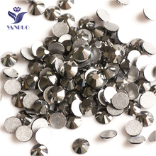 YANRUO 2058NoHF SS20 гематит 1440 шт. с плоской задней частью Стразы Стекло Стразы non HotFix камни и кристаллы для рукоделия
