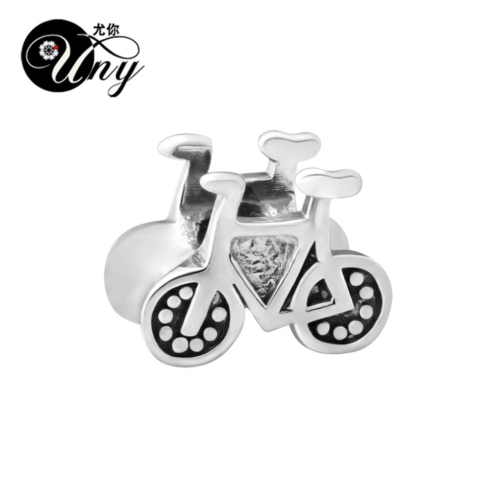 UNY Vintage Unique Beads DIY European bead Fit Pandora charm bracelet 925 Silver Beads outdoor bicycle Spacer Bead Fit Pandora ...