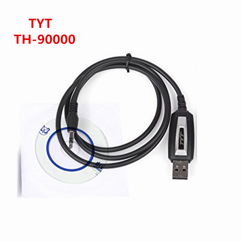 Radio mobil TYT TH-9000D 10 km Walkie talkie profesional USB Programming Cable dengan CD software tranceiver DATE untuk tyt th-9000D