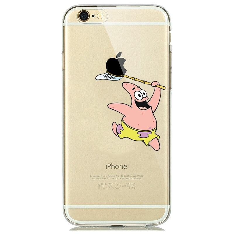 pretty nice 83ed9 29426 US $1.08 18% OFF|Cartoon Touch Logo Creative Phone Cases for iPhone 6 6s 7  8 Plus Silicone Transparent Case Mermaid Cinderella Dinosaur capinhas-in ...