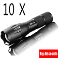 10 pcs / lot E17 CREE XM-L T6 2000Lumens cree led Torch Zoomable cree LED Flashlight Torch light For 3xAAA or 1x18650
