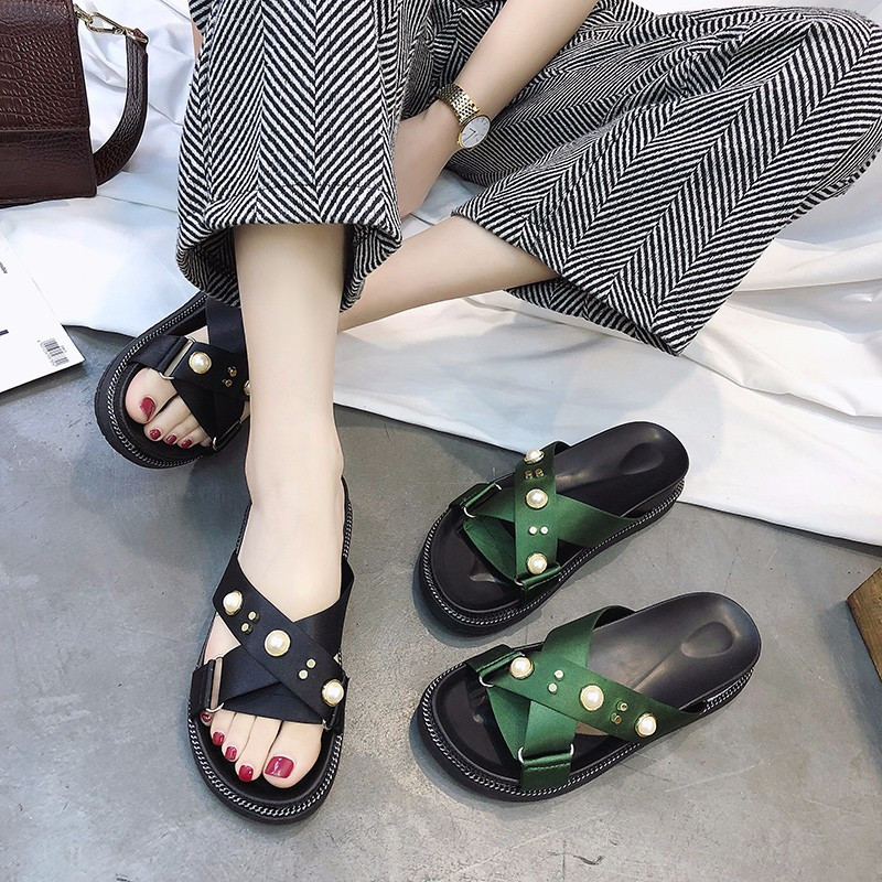 PHYANIC 2018 Женская летняя обувь Крест группа слайды эспадрильи Туфли без каблуков каблуке пляжные шлепанцы обувь с открытым носком женские