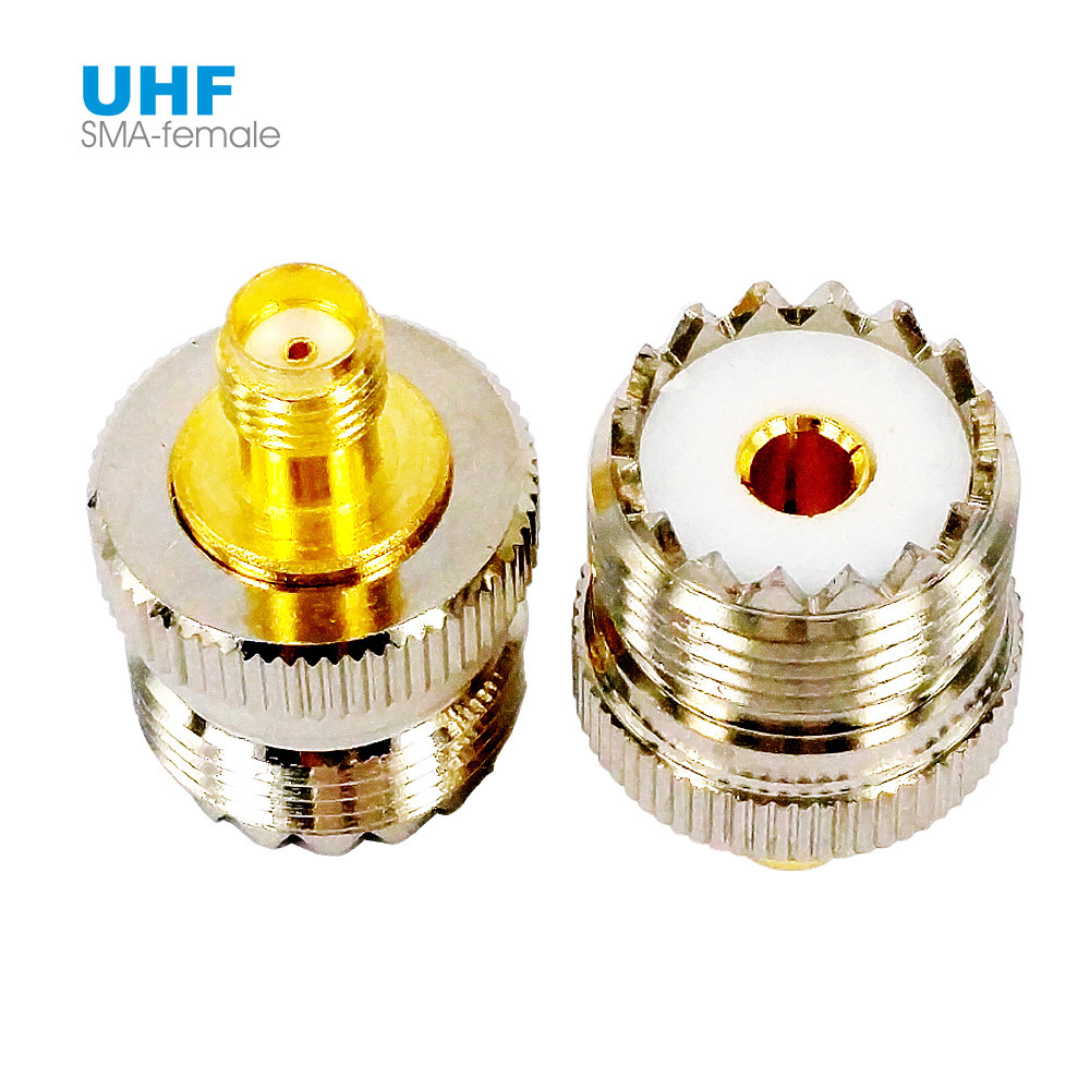SMA Female To UHF Female RF Coaxial Connector Adapter SO-239 SO239 PL259 L15 For Baofeng UV-5R Car Radio Walkie Talkie Antenna